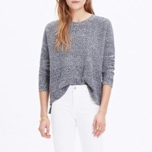 Madewell Landmark Knit Textured Sweater Zippers M